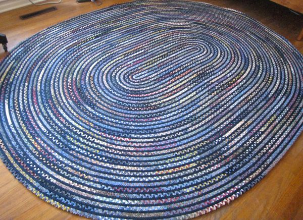 Braided Rug Blue